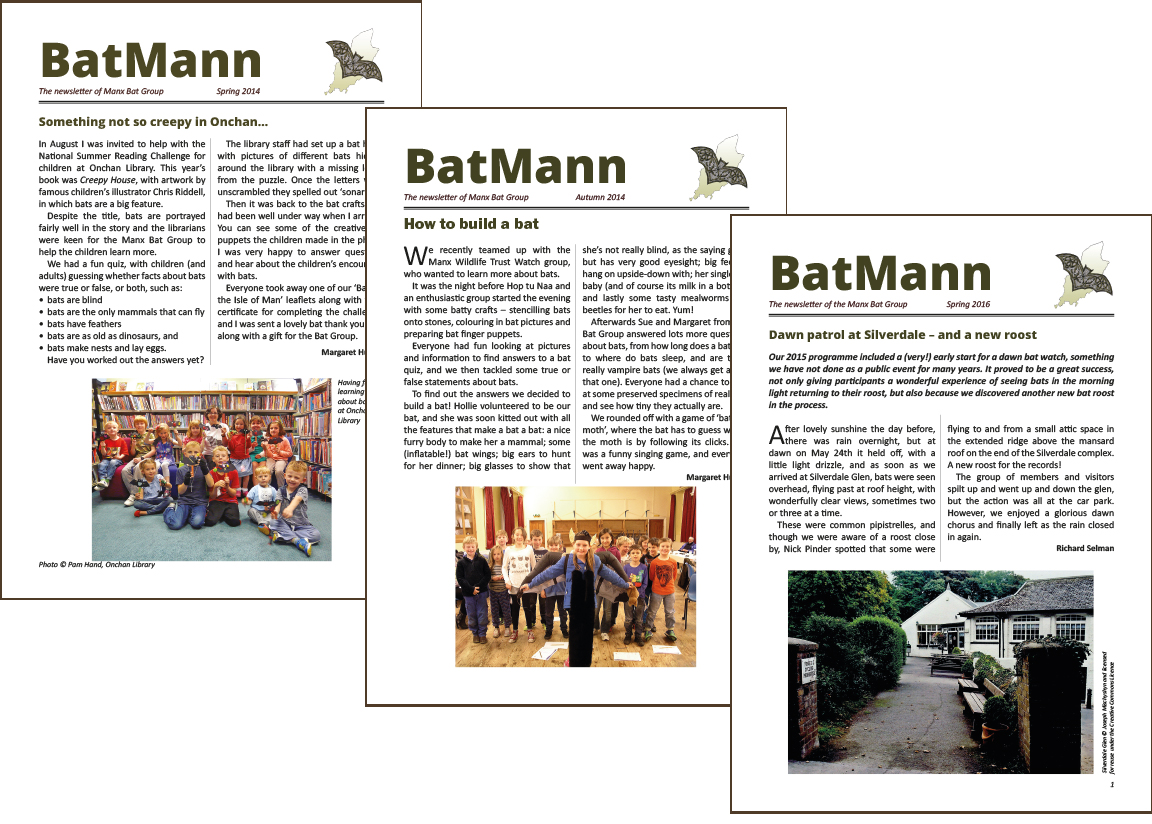 BatMann, the newsletter of the Manx Bat Group